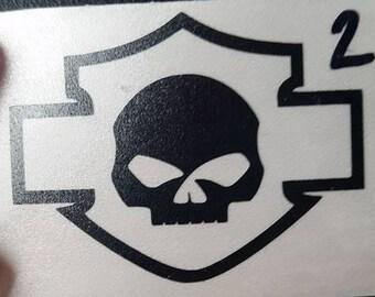 Skull Badge hardhat/helmet sticker