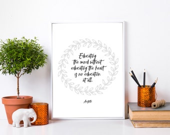 Aristotle Education Quote. Teacher Gift. Mentor. Education Quote. Teacher Quote. Classroom Decor. Appreciation Gift. End of Year Gift