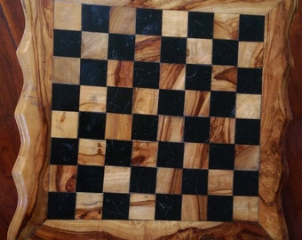 Olive wood Chess Board with drawers