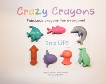 Sea Life Crayons  set of 7