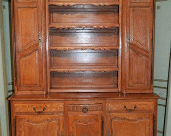 Antique French Country Cabinet Oak Large, Tall and Impressive Model #6508