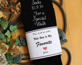 Father of the Bride socks, Special Socks for a Special Walk Wedding Socks with Socks Label. Father of the Bride Gifts. F23LB4X