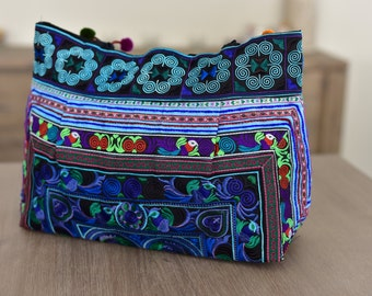 Exotic Bird Shoulder Bag - Blue