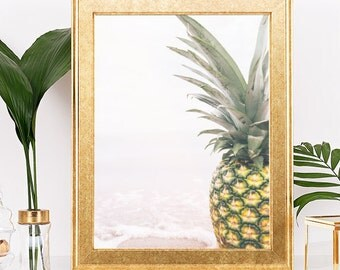 Vintage Pineapple Photo Print, Faded Pineapple, Faded Photo Print, Pineapple Wall Art, Pineapple Photography, Beach Photo Art, Digital Print