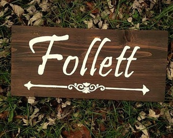Last Name Plaque, Last Name Wood Sign, Personalized Wooden Signs, Housewarming Gift,  Family Name Signs, Welcome Signs,Wedding Signs Wood,