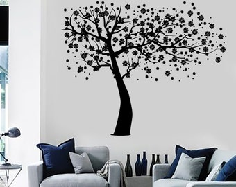 Wall Decal Tree Branch Cherry Tree Vinyl Sticker Art 1429dz