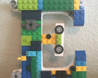 Letter E with LEGO® bricks *Free Shipping*