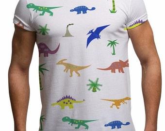 dinosaur shirt womens , Dinosaur, mens dinosaur shirt, dinosaur shirt, Cartoon, dinosaur print shirt, Sublimation, dinosaur print, dino
