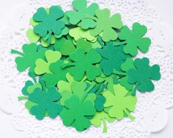 Four Leaf Clover Confetti, Saint Patrick's Day Decoration, Green Shamrock Confetti, Spring Bridal Shower, Spring Wedding