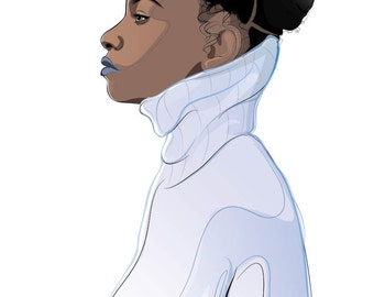 Afro Chick in a Winter Wear