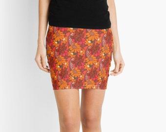 Pencil Skirt~ Groovy Flowers