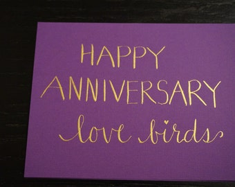 Calligraphy greeting cards, assorted occasions