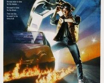 Back to the Future Movie Poster Reproduction backtothefutureposter01