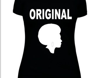BLM,African American,Woman, Cool Saying,Hip Hop,High Fashion,One Word,Original with Afro.