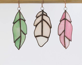 Stained Glass Feather Light-catcher/Sun-catcher/ Window Decoration