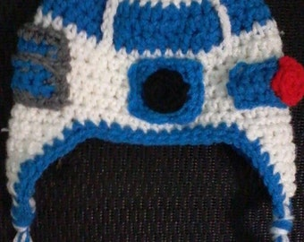 Crocheted Star Wars R2D2 hat