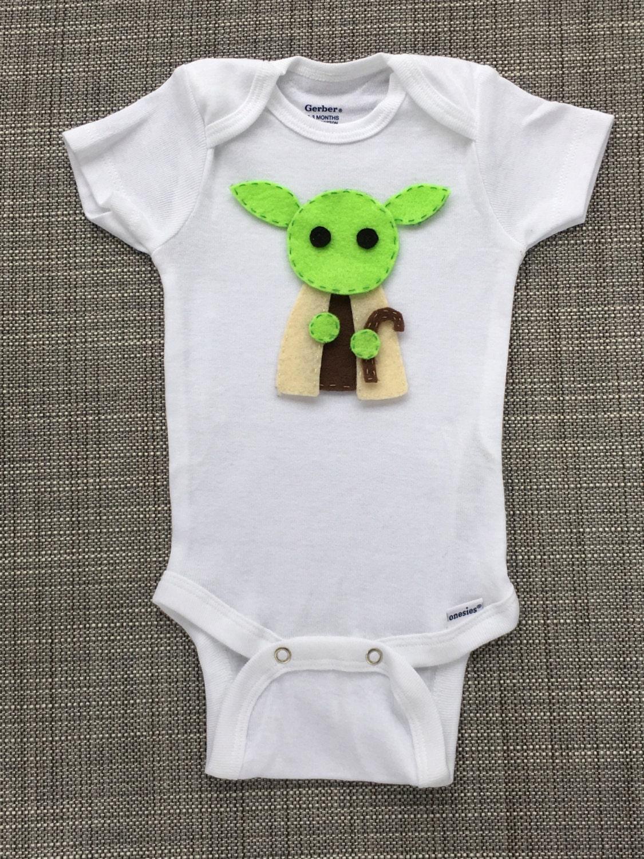 Yoda Star Wars Felt Applique Onesie