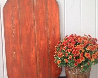 Large Shabby Wood Pumpkin
