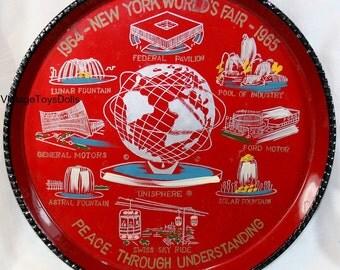 Original Vintage 1964-1965 Mew York World's Fair Serving Tray