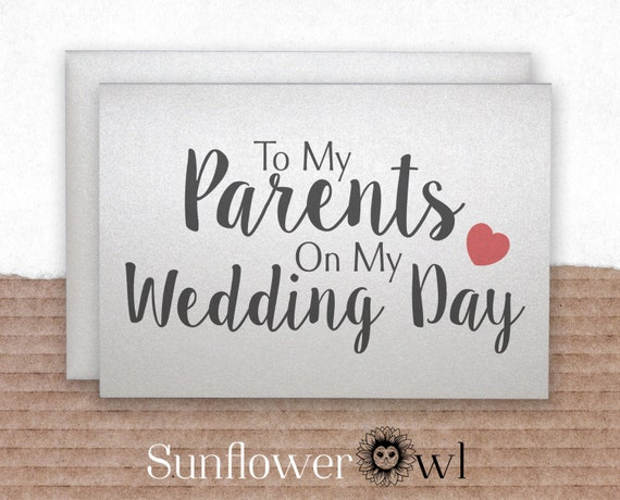 Gifts To Give Parents On Wedding Day: To My Parents On My Wedding Day Wedding Thank You Card Parents