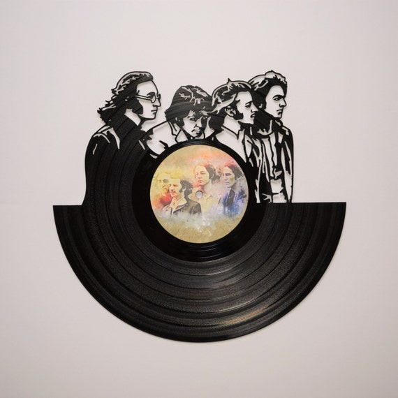 The beatles vinyl record wall art for Vinyl record wall art