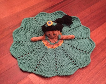 Crochet Disney Inspired Princess Jasmine Doll, Lovey, Security Blanket