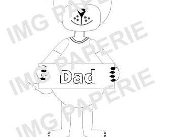 Dog sentiment - Digistamp - Instant Download Digital Digi Stamp - printable