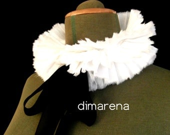 white collar for dress /ruffle collar /detachable collar /Gothic collar /collar-boa /accessory for dress,suit / gift,present /