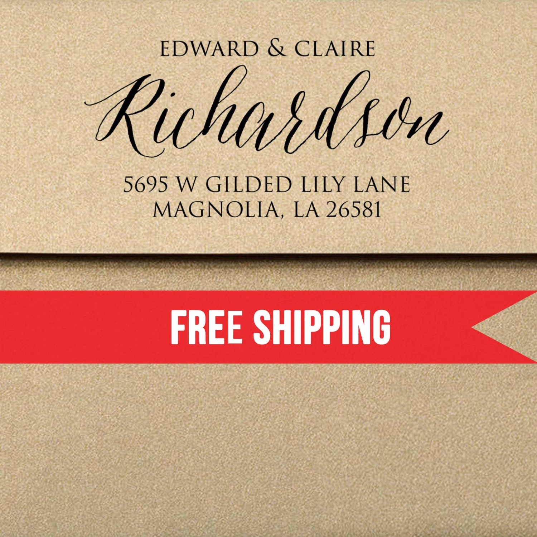 Custom Return Address Stamp-Self Inking-Personalized Stamp-Wedding ...