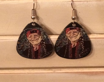Willie Nelson Vinyl record pic earrings