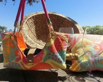 Colorful Fish Bottle Boat/Wine Purse/Bottle Caddy