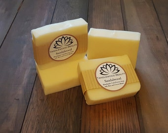 Sandalwood- Handmade Soap with Shea and Cocoa Butter