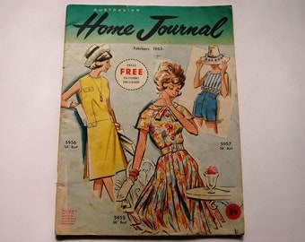 Australian Home Journal Magazine with free patterns - February 1963