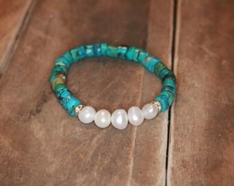 Natural Turquoise Bracelet - Atlantis