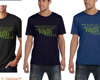 Nothing tastes as good as vegan feels mens shirt - Vegan Clothing - Vegan Shirt