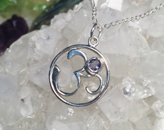 Iolite Om Icon Necklace