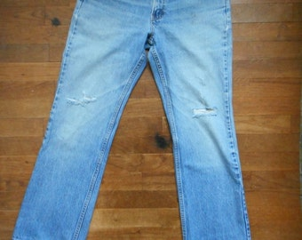 vintage 80s 517 levis denim blue made in usa boot cut high waist jeans W30 L29