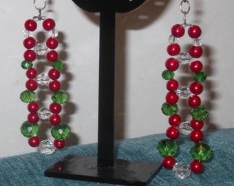 Pearl & Rondelle Dangle Earrings