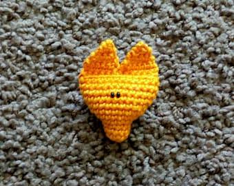 Bunny or Fox pin/ Crochet bunny pin/Brooch/ Bunny brooch/ 7 cm