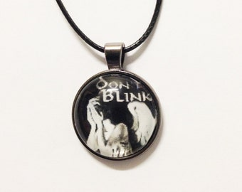 Doctor Who Don't Blink Weeping Angel Necklace