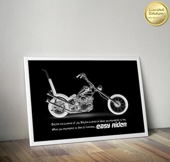 Poster Harley Davidson Easy Rider A3 Canvas Print Wall Decor