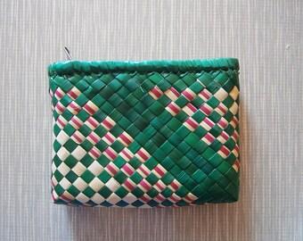 Green Woven Pouch