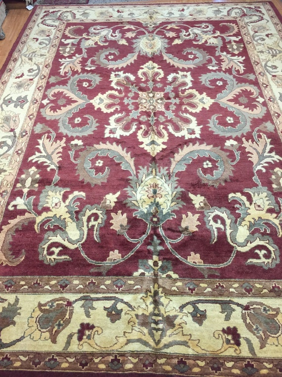 "9'3"" x 12'10"" Pakistani Peshawar Oriental Rug - Hand Made - Vegetable Dye - 100% Wool"