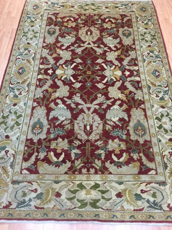 6' x 9' Pakistani Peshawar Oriental Rug - Vegetable Dye - Hand Made - 100% Wool