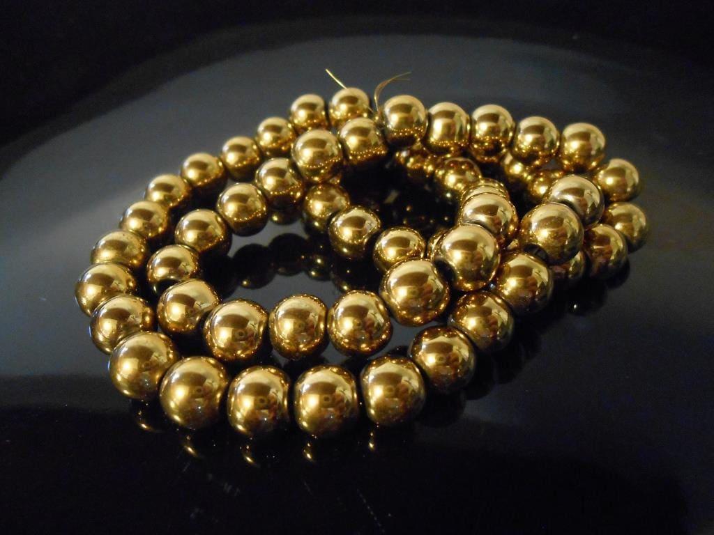 15 Gold hematit... Gold Hematite Beads