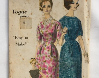 Vogue Pattern - 5118 - One piece dress - easy to make