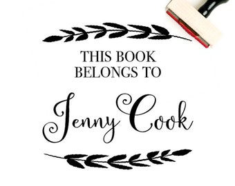Personalized Book Stamp - This Book Belongs To Stamp - Custom Book Lover Gift - From The Library of Stamp - Library Stamp - Book Plate Stamp