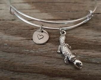 Platypus Bangle Bracelet - Animal Lover Gift- Duck Billed - Platypi - I/B/H