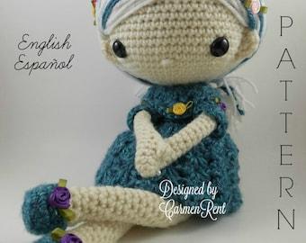 Azul - Amigurumi Doll Crochet Pattern PDF