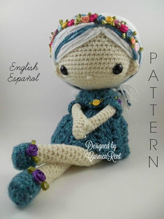 Amigurumi Doll Pdf : Azul amigurumi doll crochet pattern pdf